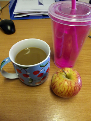 coffee and apple